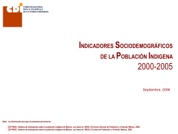 Población Indígena