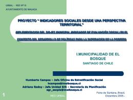 indicadores sociales cas - Centro de Documentación del Programa