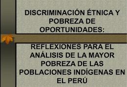 discriminación étnica y pobreza de