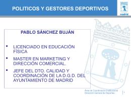 gestores y políticos en el deporte - Planificación y Gestión Deportiva