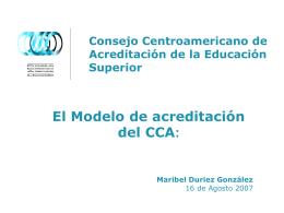 Consejo Centroamericano de Acreditación de la Educación