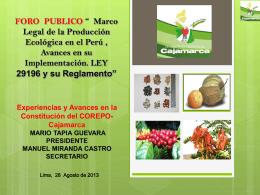ORGANICOS - Red de Agricultura Ecológica del Perú