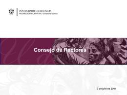 Consejo de Rectores 233 - Universidad de Guadalajara