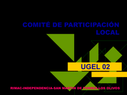 COMITÉ DE PARTICIPACIÓN LOCAL