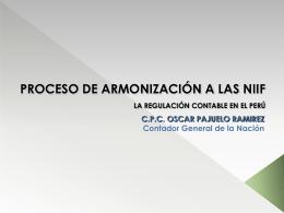PROCESO DE ARMONIZACIÓN A LAS NIIF