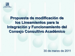 Presentación de PowerPoint - Consejo Consultivo Académico del