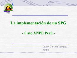 14.La implementación de un SP- Caso ANPE Perú
