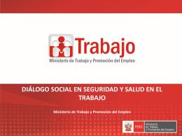 Dialogo Social en la SST - Dirección Regional de Trabajo y