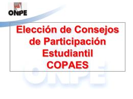 Elección de Consejos de Participación Estudiantil - UGEL-06