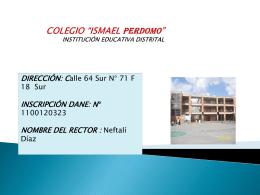 """colegio """"ismael perdomo"""" institución educativa distrital"""
