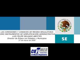 Las Comisiones y Consejos de Mejora Regulatoria como