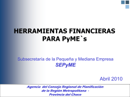 Presentacion FONAPyME abril 2010