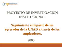 Seguimiento e impacto de los egresados de la UNAD a través de
