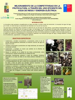 Mejoramiento de la competitividad en la fruticultura a través del uso