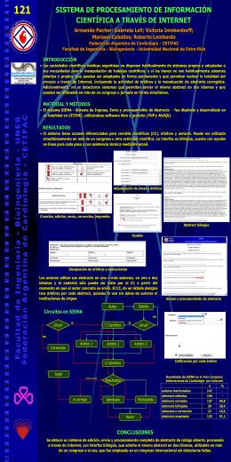 Sistema de procesamiento de información científica a través de