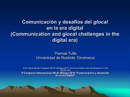 Comunicación y desafíos del desarrollo glocal en la era digital
