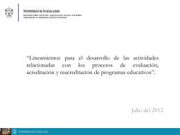 Movilidad Estudiantil 2012 - VIII Consejo de Rectores