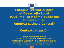 Enfoque territorial del desarrollo local