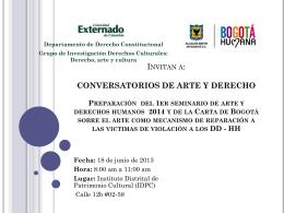 Conversatorio 18 de Junio del 2013