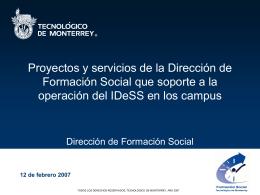 Servicio Social Comunitario - Centro Virtual de Aprendizaje