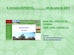 Web del Centro. CEIP Jara Carrillo