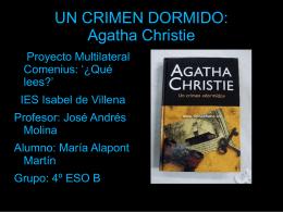 Un crimen dormido por Maria Alapont