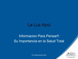 Presentacion AMO Luz Azul