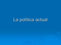 La actualidad política