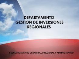 subsecretaría de desarrollo regional y administrativo departamento