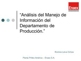 """""""Análisis del Manejo de Información del Departamento - U"""