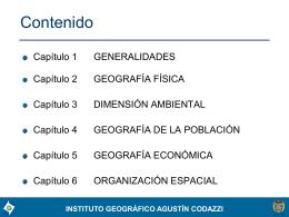 Características Geográficas Cauca - Instituto Geográfico Agustín