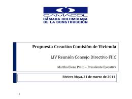Propuesta Creación Comisión de Vivienda