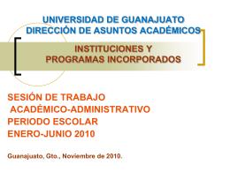 universidad de guanajuato dirección de administración escolar