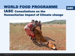 IASC Consultations on the Humanitarian Impact of