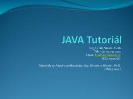 JAVA Tutoriál