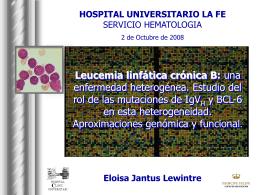 LLC B - Servicio de Hematologia Hospital La Fe