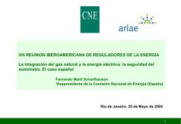 Informe marco sobre la demanda de energía eléctrica y gas natural
