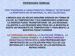 """PROPIEDADES TERMICAS POR """"PROPIEDAD O"""