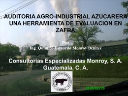 Auditoría Agroindustrial Azucarera,una herramienta de