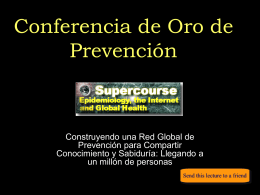 """Golden"" Lecture of the Global Health Network Supercourse"
