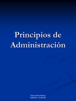 Principios de Administración