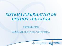 Descripción del Nuevo Sistema - Dirección General de Servicios