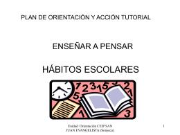 Presentación de PowerPoint Hábitos Escolares