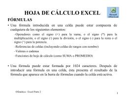 Fórmulas y funciones