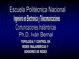 Presentación - Ivan Bernal - Escuela Politécnica Nacional