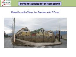 Ver la presentación AQUÍ - Barrio El Rosal de Vespucio