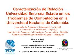 Redis2012ProgramasAreaComputacionUN