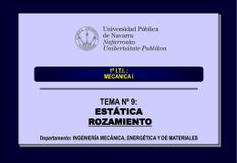 tema_09_rozamiento - Ingeniería Mecánica Aplicada y
