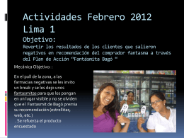 Actividades 2012 Lima 1 Objetivo - e-learning web