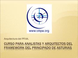 Curso para analistas y arquitectos del framework del principado de